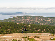 View of Frenchman Bay from atop Cadillac Mountain, Acadia National Park, Maine, USA.