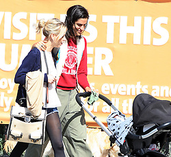 Peaches Geldof, fiance Thomas Cohen and their baby boy Astala out and about in London, UK. 31/08/2012<br />