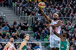Lorenzo Brown of KK Crvena Zvezda MTS during ABA basketball league round 9 match between teams KK Cedevita Olimpija and KK Crvena Zvezda MTS in Arena Stozice, 1. December, Ljubljana, Slovenia. Photo by Grega Valancic / Sportida