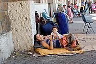 Roma 11 Luglio 2014<br /> I rom del campo rom  di Val d'Ala, al quartiere Monte Sacro, sgomberati il 9 Luglio, dalla polizia municipale di Roma, e rimasti senza  un abitazione, si sono accampati sotto alla sede del III Municipio, in attesa di una soluzione. I 39 rom, tra cui  11 minori e neonati, dormono e mangiano  per la strada, sono  assistiti dall'Associazione 21 Luglio.<br /> Rome July 11, 2014 <br /> The Roma of Roma camp in Val d'Ala, the Monte Sacro district, evacuated July 9, by the municipal police of Rome,and remained without a home, they are camped under the seat of the Town Hall III, waiting for a solution. The 39 Roma, including 11 children and infants, sleep and they eat for the road, they are assisted by the association 21 July.