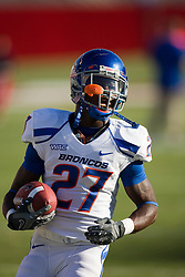 Sep. 18, 2009; Fresno, CA, USA; Boise State Broncos running back Jeremy Avery (27) before the Fresno State Bulldogs game at Bulldog Stadium.