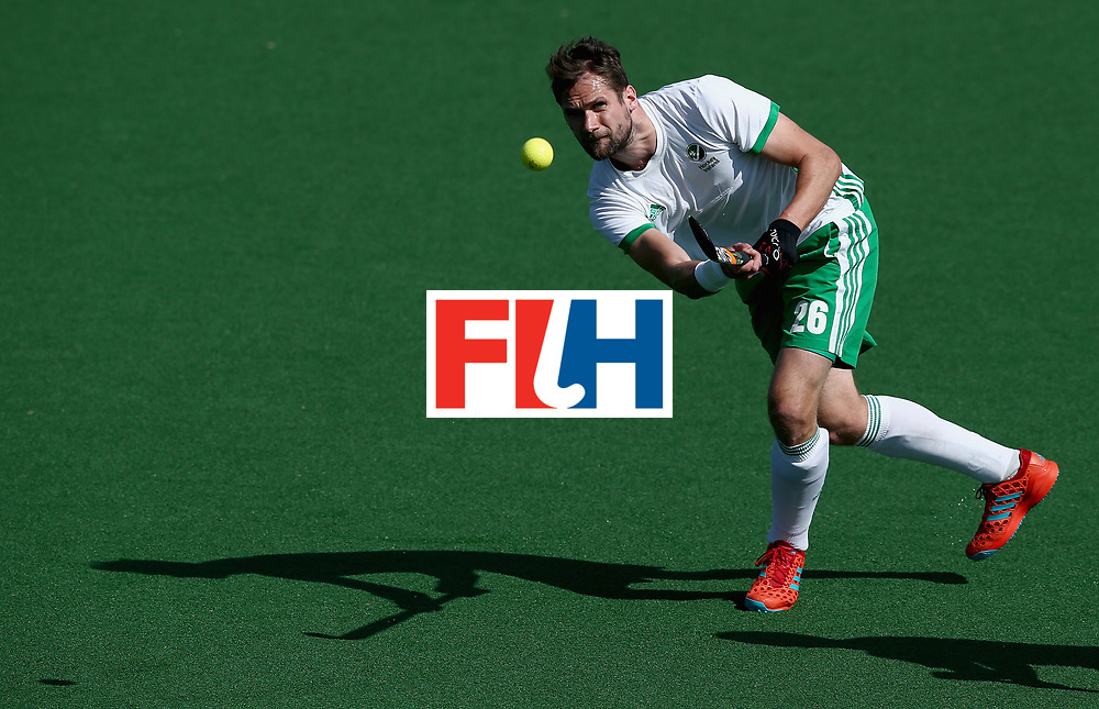 JOHANNESBURG, SOUTH AFRICA - JULY 13: Paul Gleghorne of Ireland in action during day 3 of the FIH Hockey World League Semi Finals Pool B match between Ireland and Egypt at Wits University on July 13, 2017 in Johannesburg, South Africa. (Photo by Jan Kruger/Getty Images for FIH)