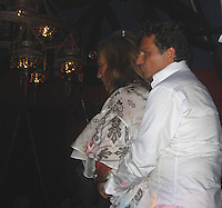 **EXCLUSIVE**.Denise Rich dancing up a Storm with  Island Playboy Olivier Bernasconi at Le Ti St Barth Restaurant.St. Barth, Caribbean.Saturday, December 01, 2007.Photo By Celebrityvibe.com.To license this image please call (212) 410 5354; or.Email: celebrityvibe@gmail.com ;.website: www.celebrityvibe.com