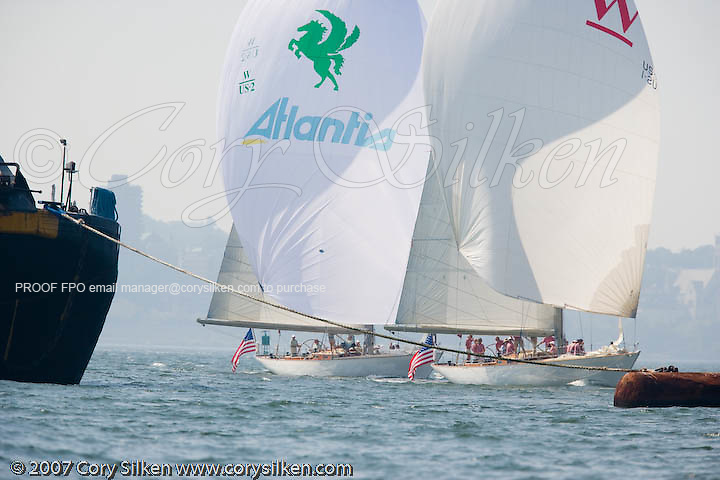 W Class Wild Horses and White Wings racing in the Liberty Race during New York Classic Week