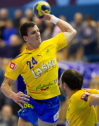 Nemanja Zelenovic of Celje during handball match between RK Celje Pivovarna Lasko and IK Savehof (SWE) in 3rd Round of Group B of EHF Champions League 2012/13 on October 13, 2012 in Arena Zlatorog, Celje, Slovenia. (Photo By Vid Ponikvar / Sportida)