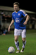 Jay Harris (Tranmere Rovers) during the Vanarama National League match between North Ferriby United and Tranmere Rovers at Eon Visual Media Stadium, North Ferriby, United Kingdom on 21 March 2017. Photo by Mark P Doherty.