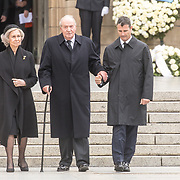 LUX/Luxemburg/20190504 - Funeral of HRH Grand Duke Jean/Uitvaart Groothertog Jean, Oud Koning Juan Carlos en oud Koningin Sofia  van Spanje