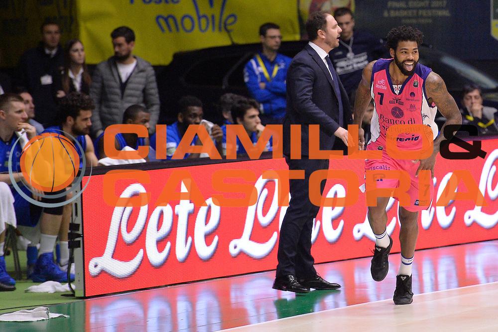 Trevor Lacey<br /> Banco di Sardegna Sassari vs Basket Leonessa Brescia<br /> Poste Mobile Final Eight F8 2017 <br /> Lega Basket 2016/2017<br /> Rimini, 18/02/2017<br /> Foto Ciamillo-Castoria / I.Mancini