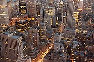 New York, Midtown building. panoramic view of Manhattan skyline. at night  New York, Manhattan - United states
