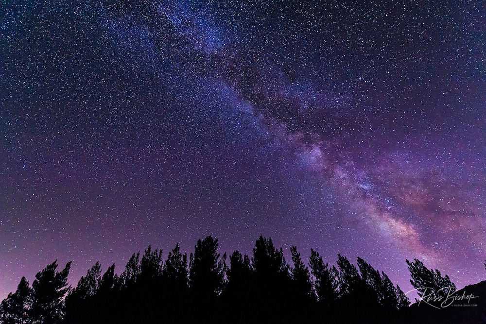 The Milky Way over Rose Valley, Los Padres National Forest, California