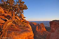 Cliffs of the Colorado National Monument catch mornings first light near Fruita Colorado