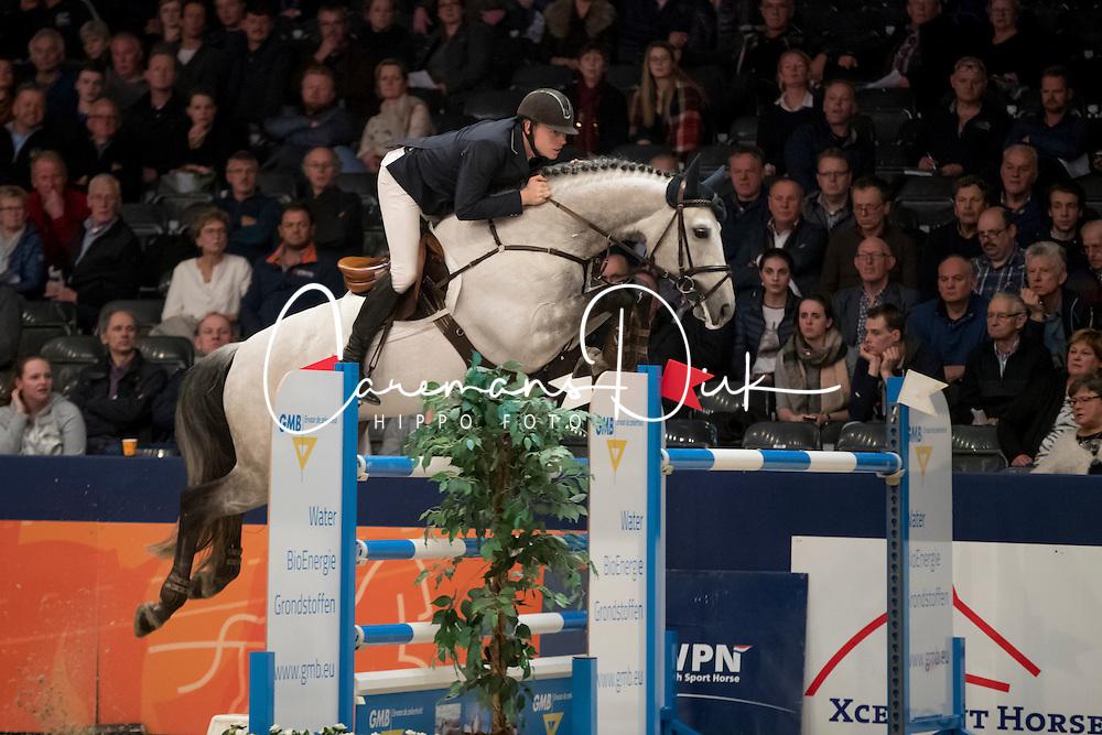 De Boer Lennard, NED, Durango VDL<br /> Springen Grote Prijs<br /> KWPN Hengstenkeuring 2017<br /> © Dirk Caremans<br /> 02/02/17