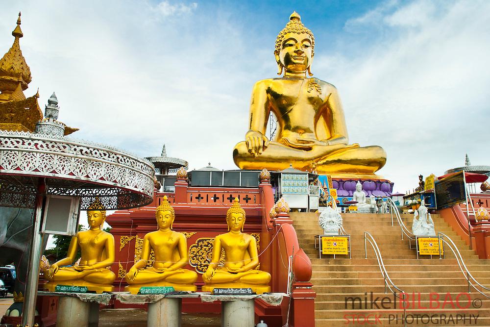Golden Buddha statue. Golden Triangle.  Chiang Rai province, Thailand.