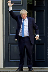 Newly elected leader of the Conservative party Boris Johnson arrives at Conservative party HQ in Westminster, London, after it was announced that he had won the leadership ballot and will become the next Prime Minister.
