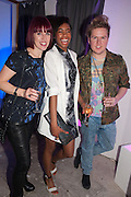 VICKY CORD; TOLULA AYEDEMI; KELVIN BARRON, Maison Triumph launch to celebrate the beginning of London fashion week. Monmouth St. 14 February 2013.
