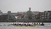 Putney, GREAT BRITAIN,   Oxford [right] start to move away from Cambridge,in the early stages of the race, as the both crews race on Fulham Reach, during the  2008 annual Varsity Boat Race,  Oxford vs Cambridge raced over the 'Championship Course' Putney to Mortlake, on the River Thames, Sat 29.03.2008  [Mandatory Credit, Peter Spurrier / Intersport-images Varsity Boat Race, Rowing Course: River Thames, Championship course, Putney to Mortlake 4.25 Miles,