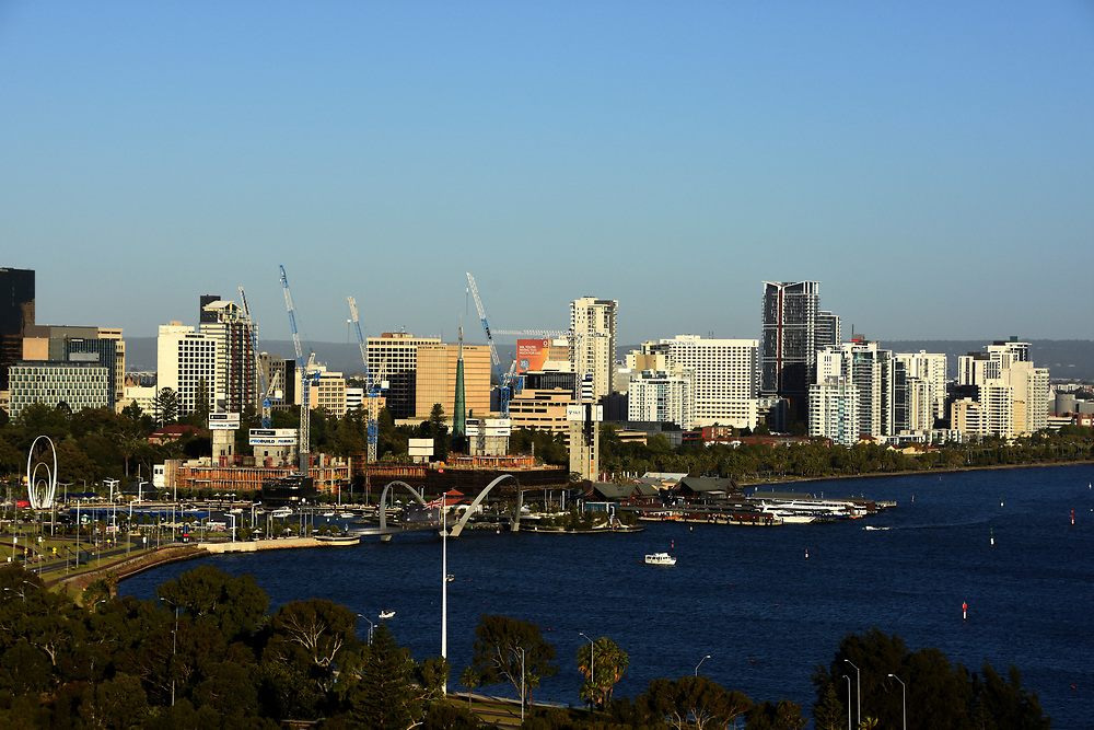 CBD area of perth as seen from King Park high view point