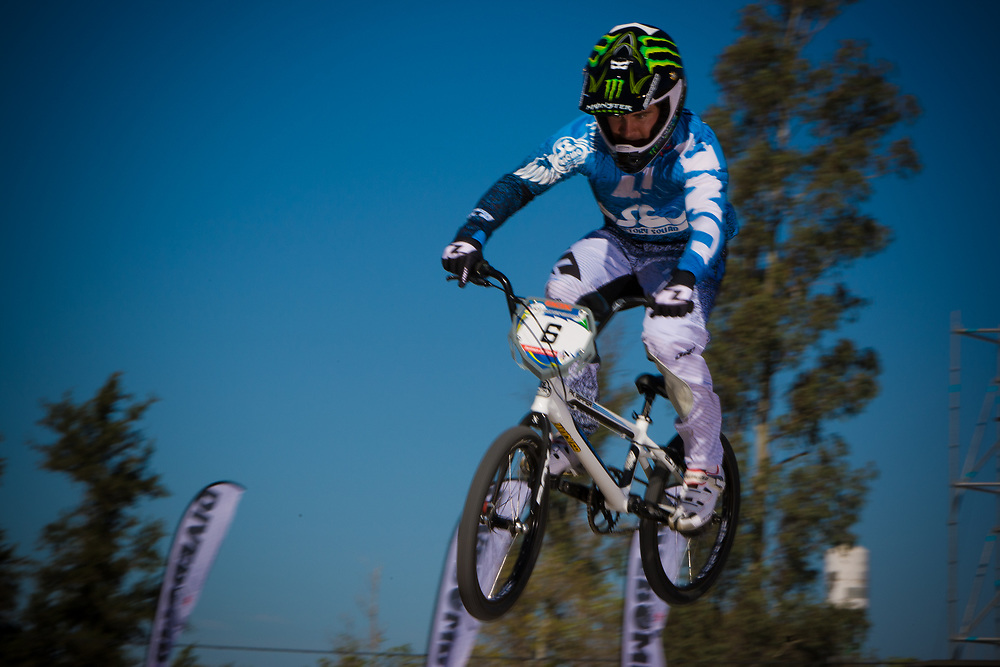 # 6 (ROBINSON Donny) USA at the UCI BMX Supercross World Cup in Santiago del Estero, Argintina.
