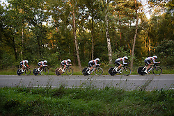 Rabo Liv on their way to third place at the 26.4 km Stage 2 Team Time Trial of the Boels Ladies Tour 2016 on 31st August 2016 in Gennep, Netherlands. (Photo by Sean Robinson/Velofocus).