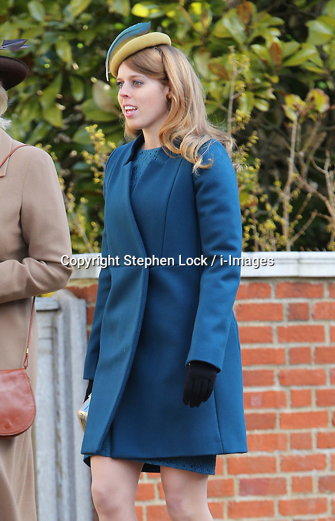 Princess Beatrice arriving at  the Easter Day service at St.George's Chapel, Windsor Castle, Sunday, 31st March 2013.  Photo by: Stephen Lock / i-Images