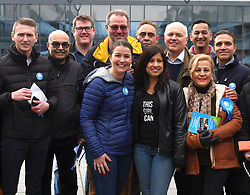 Iain Duncan Smith MP out campaigning  with Conservative Party members at Chingford  before having lunch at Hugs W Mugs Cafe, Parade Gardens, Chingford on Saturday 24 March 2018