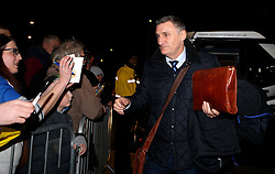 Blackburn Rovers manager Tony Mowbray signs autographs on arrival at Burton Albion ahead of his first fixture in charge of his first club - Mandatory by-line: Robbie Stephenson/JMP - 24/02/2017 - FOOTBALL - Pirelli Stadium - Burton upon Trent, England - Burton Albion v Blackburn Rovers - Sky Bet Championship