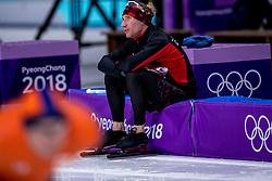14-02-2018 KOR: Olympic Games day 6, PyeongChang<br /> 10.000 meter schaatsen / Goud voor Ted-Jan Bloemen en kijkt gespannen naar de race van Sven Kramer