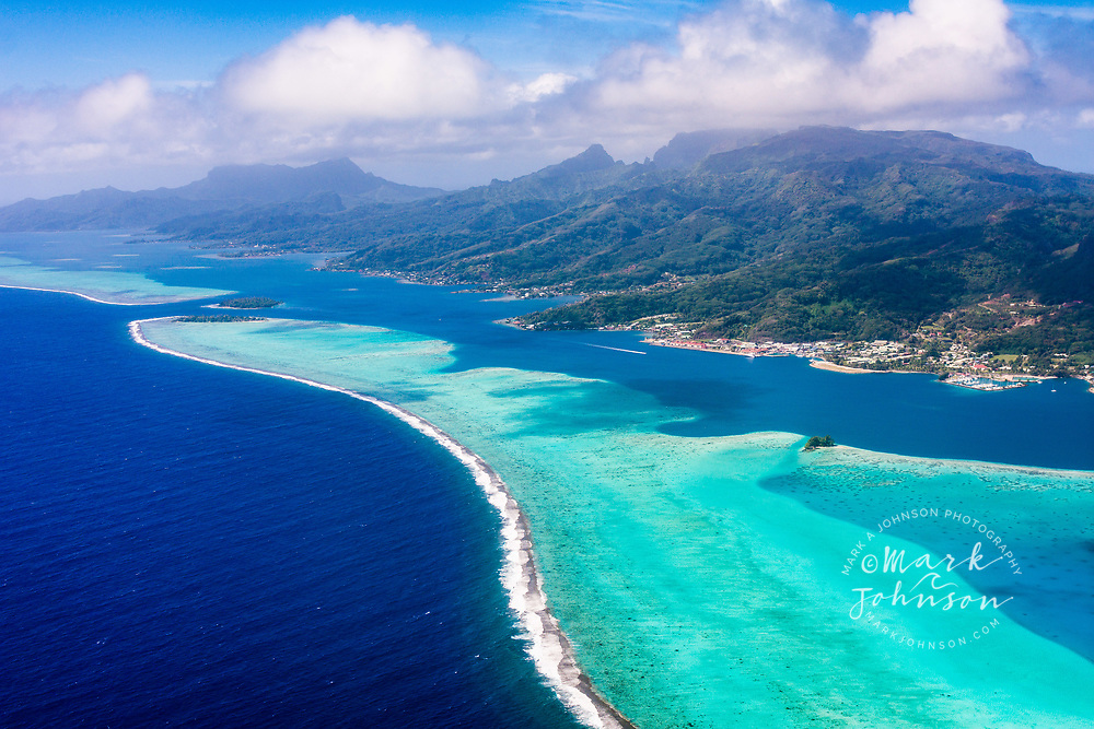 Aerial photo of Raiatea, Leeward Islands, French Polynesia