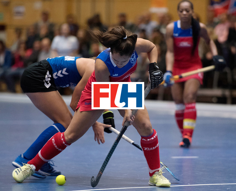 BERLIN - Indoor Hockey World Cup<br /> United States - Namibia<br /> foto: Jocelle Deysel <br /> WORLDSPORTPICS COPYRIGHT FRANK UIJLENBROEK