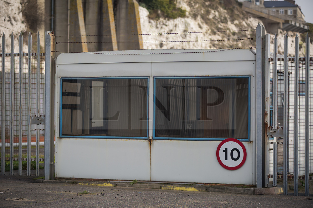 @Licensed to London News Pictures 13/02/2019. Ramsgate, Kent. The Port of Ramsgate remains derelict today as a decision on budget cuts within Kent County Council has been delayed. This in turn may have prevented the Port of Ramsgate reopening as a ferry port in the event of a no-deal Brexit. Photo credit: Manu Palomeque/LNP