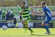Forest Green Rovers midfielder Fabien Robert (26) on the attack 0-0 during the Vanarama National League match between Forest Green Rovers and North Ferriby United at the New Lawn, Forest Green, United Kingdom on 1 April 2017. Photo by Alan Franklin.