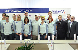Athletes at press conference before departure of  Slovenian athletics team to European Athletics Indoor Championships Torino 2009, in Ljubljana, Slovenia, on March 4, 2009. (Photo by Vid Ponikvar / Sportida)