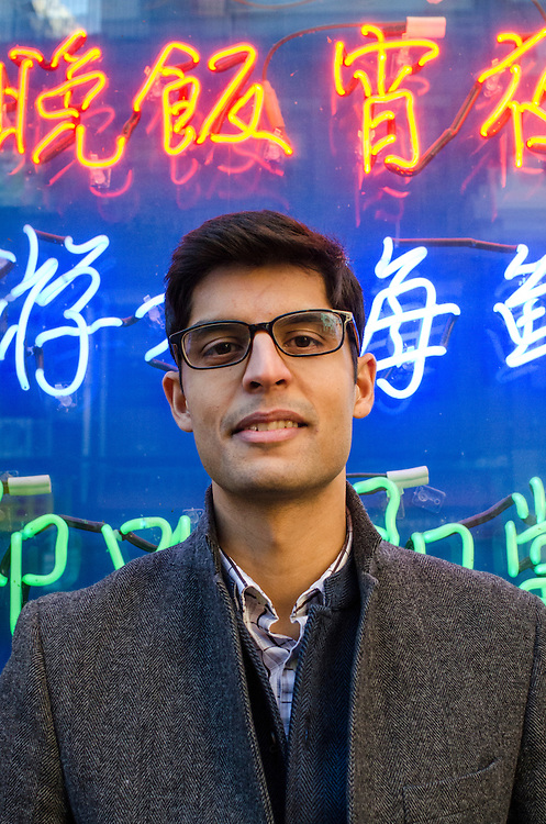Tufts School of Medicine student Raghav Seth talks about gentrification in Chinatown in Boston on Nov. 21, 2014