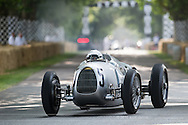 Chichester, UK - July 2013: Auto Union Type-C in action at the Goodwood Festival of Speed on July 12, 2013.