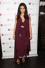 DEC 01 2014 Kim Kardashian at the Elizabeth Taylor Foundation-World AIDS Day