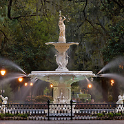 Forsyth Park Fountain in Savannah, Georgia