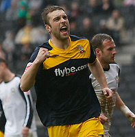 Photo: Steve Bond/Richard Lane Photography. MK Dons v Southampton. Coca-Cola Football League One. 20/03/2010. Rickie Lambert celebrates his penalty