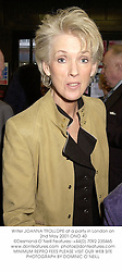 Writer JOANNA TROLLOPE at a party in London on 2nd May 2001.ONO 40