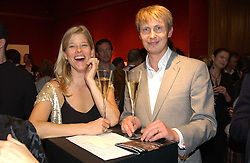 JESSICA ZAMBELETTI and MARCUS CODRINGTON at an aution of art inspired by footballer David Beckham in aid of The National Deaf Children's Society and held at Christie's, St.James's, London on 4th November 2004.<br /><br />NON EXCLUSIVE - WORLD RIGHTS