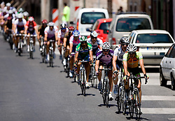 Peloton in Skofja Loka at 2nd stage of Tour de Slovenie 2009 from Kamnik to Ljubljana, 146 km, on June 19 2009, Slovenia. (Photo by Vid Ponikvar / Sportida)