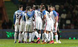 November 14, 2017 - Leiria, Leiria, Portugal - Leiria, Portugal - Tuesday November 14, 2017: USMNT during an International friendly match between the United States (USA) and Portugal (POR) at Estádio Dr. Magalhães Pessoa. (Credit Image: © John Dorton/ISIPhotos via ZUMA Wire)
