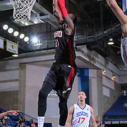 Idaho Stampede Guard Nick Wiggins (21) dunks the ball in the first half of a NBA D-league regular season basketball game between the Delaware 87ers and the Idaho Stampede (Utah Jazz) Tuesday, Feb. 03, 2015 at The Bob Carpenter Sports Convocation Center in Newark, DEL