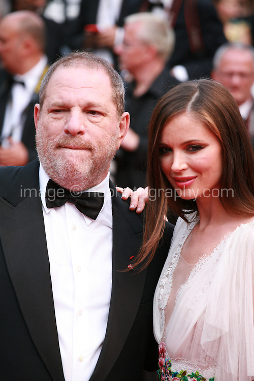 Harvey Weinstein and Georgina Chapman at the Closing ceremony and premiere of La Glace Et Le Ciel at the 68th Cannes Film Festival, Sunday 24th May 2015, Cannes, France.