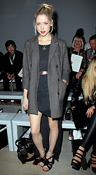Peaches Geldof and Zara Martin at the opening day of London Fashion Week, Friday 16th September 20111Photo by: Stephen Lock/i-Images<br /> File photo - Peaches Geldof  died of heroin overdose coroner rules today Wednesday 23rd July 2014.