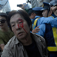 Tokyo2011 september 11. 12 antinuclear protesters were arrested by police