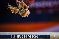 October 28, 2018 - Doha, Quatar - Emilie Winther of  Denmark   during  Balancing Beam qualification at the Aspire Dome in Doha, Qatar, Artistic FIG Gymnastics World Championships on 28 of October 2018. (Credit Image: © Ulrik Pedersen/NurPhoto via ZUMA Press)