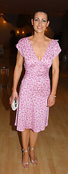 TV presenter KIRSTY GALLACHER at the annual Laurent Perrier Pink Party held at The Sanderson Hotel, Berners Street, London on 27th April 2005.<br /><br />NON EXCLUSIVE - WORLD RIGHTS