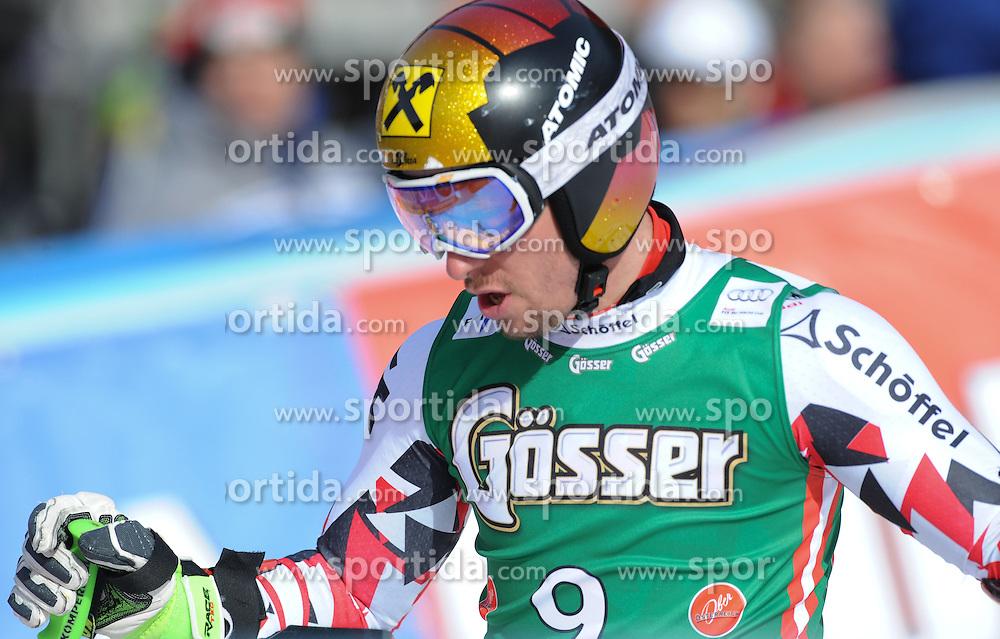 27.02.2016, Hannes Trinkl Rennstrecke, Hinterstoder, AUT, FIS Weltcup Ski Alpin, Hinterstoder, Super G, Herren, im Bild Marcel Hirscher (AUT) 3.Platz // Marcel Hirscher of Austria ( third place) reacts after his run of men's Super G of Hinterstoder FIS Ski Alpine World Cup at the Hannes Trinkl Rennstrecke in Hinterstoder, Austria on 2016/02/27. EXPA Pictures © 2016, PhotoCredit: EXPA/ Erich Spiess