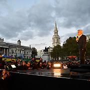 Speaker Sadiq Khan on stage of the Mayor of London celebrates the Festival of Lights with Diwali in Trafalgar Square on 28 October 2018, London, UK.
