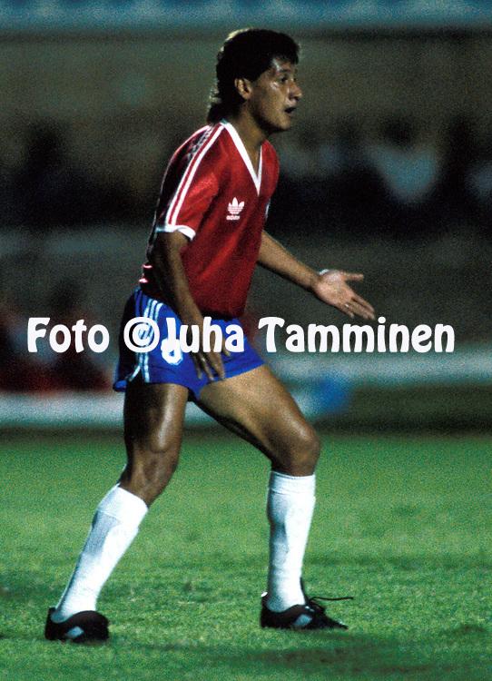10.07.1989, Estadio Serra Dourada, Goiania, Brazil..Copa Am?rica 1989..Chile v Ecuador.Juan Carlos Letelier - Chile.©Juha Tamminen